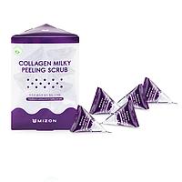 Скраб для лица с коллагеном и молочным белком Mizon Collagen Milky Peeling Scrub, 24 шт., фото 1