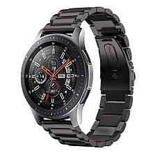 Стальной ремешок браслет для смарт-часов BeWatch для Samsung Galaxy Watch 46 мм Черный (1020401)