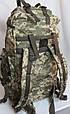 Тактический рюкзак камуфляж цифра, пиксель, ВСУ 80 л, фото 6