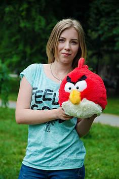 Плюшевий Angry birds злі птахи 40 см червоний ручна робота