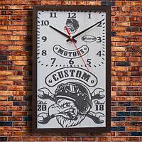 """Дизайнерские настенные часы """"MOTORS"""", индивидуальная работа."""