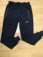 Мужские темно-синие спортивные штаны на манжете Nike