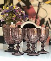 """Набор """"Винтаж"""" розовый (6 бокалов 300 мл + кувшин 1 л), 34215-7-3"""