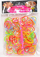 Резиночки для плетения браслетов Микс 200 ароматизированные в пакетике