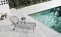 Шезлонг лежак дизайнерский Tidal металлический