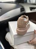 Стильні жіночі кросівки Alexander McQueen (Олександр Маквин) Patent Beige, фото 4