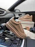 Стильні жіночі кросівки Alexander McQueen (Олександр Маквин) Patent Beige, фото 3