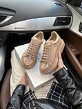 Стильні жіночі кросівки Alexander McQueen (Олександр Маквин) Patent Beige, фото 7