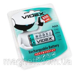 Акумуляторна батарея (акумулятор) AAA 800 mAh, Videx, 2 шт, 1.2 V, Blister