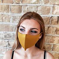 Детская маска на лицо охра