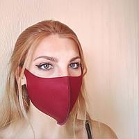 Детская маска на лицо красный