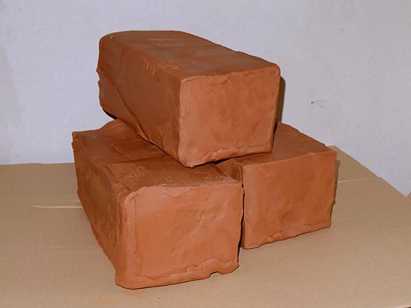 Красная глина для скульптурной лепки 28 кг - керамическая масса