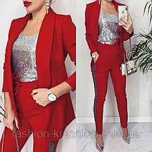 Модный женский костюм:пиджак и брюки,размеры:42,44,46.