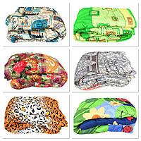 Одеяло двуспальное 180/210 см, холлофайбер , ткань бязь
