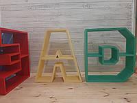 Полка деревянная в виде буквы