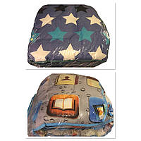 Одеяло двуспальное 180/210 см, LUX холлофайбер , ткань бязь