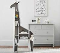 """Полка деревянная для книг и игрушек """"Жираф"""""""