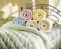 Одеяло двуспальное Однотонное 180/210 см, ELIT  холлофайбер , ткань бязь