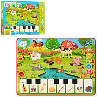 Умный планшет для малышей обучающий, ферма, загадки, цифры, музыка, звук (укр, англ.), 3811