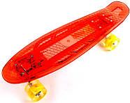 "Penny Board ""Led"". Красный цвет. Дека и колеса светятся!, фото 2"