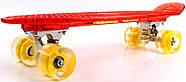 "Penny Board ""Led"". Красный цвет. Дека и колеса светятся!, фото 3"