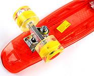 "Penny Board ""Led"". Красный цвет. Дека и колеса светятся!, фото 4"