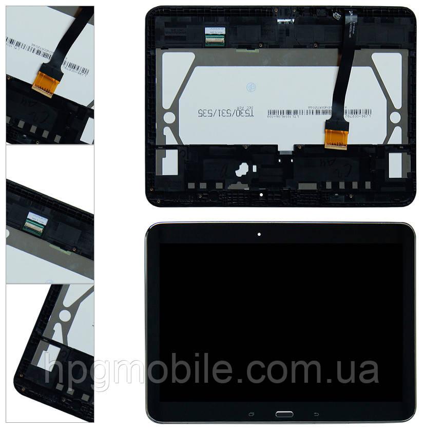 """Дисплей для Samsung Galaxy Tab 4 10.1"""" T530, модуль в сборе (экран и сенсор), с рамкой, черный, оригинал"""