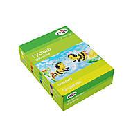 """Гуашь Гамма """"Пчелка"""" 12 цветов, 20мл, картон"""