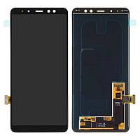 Дисплейный модуль для Samsung Galaxy A8 Plus (2018) A730, черный, TFT