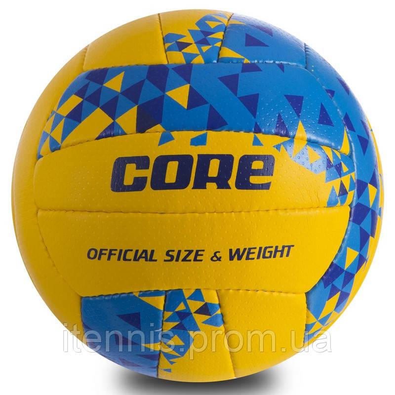 """Мяч волейбольный CORE """"Желтый/Синий"""" NEW"""