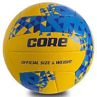 """Мяч волейбольный CORE """"Желтый/Синий"""" NEW, фото 1"""