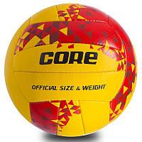 """Мяч волейбольный CORE """"Желтый/Красный"""" NEW"""