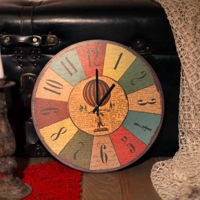 Часы настенные круглые Воздушный шар 36 см (CHR_K_15M023)