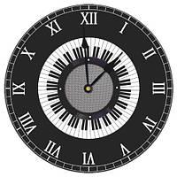 Часы настенные круглые, 36 см Музыка (CHR_K_MUS001)