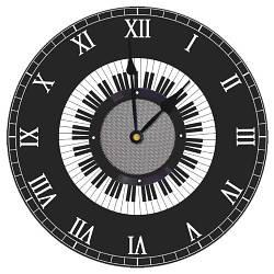 Годинники настінні круглі, 36 см Музика (CHR_K_MUS001)
