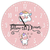 Часы настенные круглые, 36 см Follow the Dream (CHR_P_20A002)