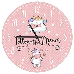 Годинники настінні круглі, 36 см Follow the Dream (CHR_P_20A002)