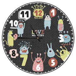 Годинники настінні круглі Love monsters 36 см (CHR_P_20A004)