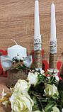 Набор свадебных свечей Этничность. Цвет серебряный., фото 3