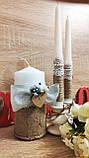 Набор свадебных свечей Этничность. Цвет серебряный., фото 2