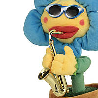 Мягкая игрушка квітка Блютуз колонка SUNROZ танцующий цветок