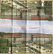 Салфетка для декупажа  21х21 см дворец Шенбрунн (Австрия,Вена)
