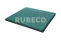 Резиновая плитка 500х500х30 мм  TM Rubeco. Резиновые плиты зеленые 50х50х3 см