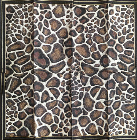 Салфетка для декупажа  21х21 см леопардовая, фото 2