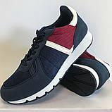 Кросівки чоловічі сині з червоним LaVento, фото 5
