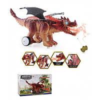Животное на р/у 0838 Дракон, пульт, свет,звук,функ.пар, в коробке