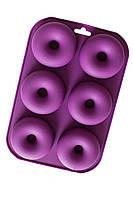 Силіконова форма для випікання пончиків і Донатс на 6 осередків 9 см 2,5 см