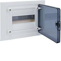 Распределительный щит внутренней установки на 8 мод.(1х8), GOLF, с прозрачной дверцей