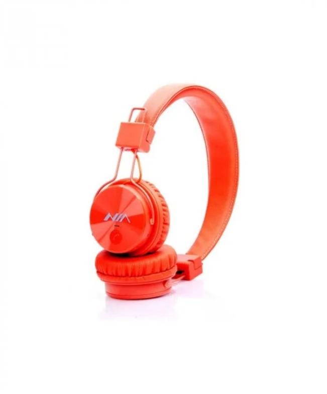 Наушники беспроводные  NIA MRH-8809 оранжевые