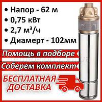 Насос глубинный скважинный погружной на воду вихревой WOMAR 4SKM-100 0,75 кВт для скважин и колодцев